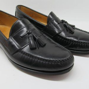 Sebago Mens Black Leather Dress Tassel Loafers 12B
